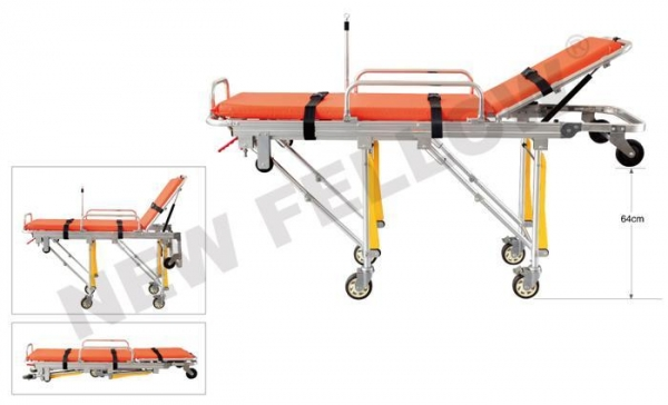 China Ambulance Trolley Stretchers Auto Loading Foldable for Emergency Rescue NF-A3-3