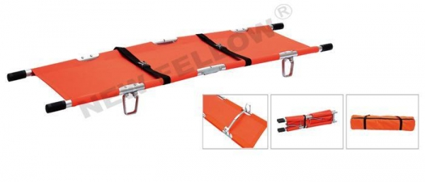 Cheap Foldable Aluminum Transport Stretcher , Military Evacuation Stretchers NF-F7 for sale