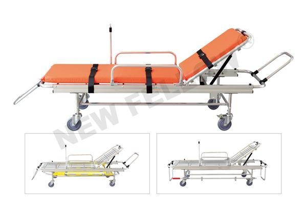 Cheap Hospital Emergency Ambulance Stretcher Trolley Aluminum Alloy Automatic Loading Stretcher NF-L2 for sale
