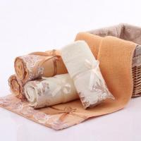 China Cotton Super Water Absorbing Lace Trim Fine Towel on sale