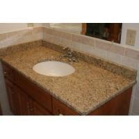 China Good quality Santa Cecilia Light Granite Bathroom Vanity Top on sale