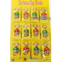Buy cheap 201662914140Character Model Super Mario Head 3D PVC Key Chain from wholesalers