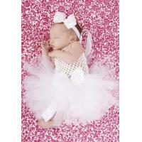 China Tiny Blessings Baby Crochet Tutu Special Occasion Dress in White - 2092 on sale