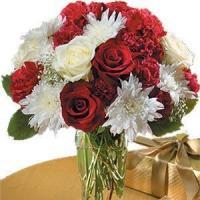 Best Red And White Bouquet NO.86 delivery flower to taiwan wholesale