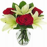 Buy cheap Joyful Lily & Rose Bouquet NO.41 delivery flower to taiwan from wholesalers