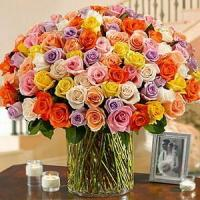 Buy cheap 100 Roses in a Vase NO.55 delivery flower to taiwan from wholesalers