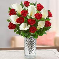 China Stunning Red Rose & Calla Lily NO.57 delivery flower to taiwan on sale