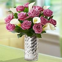 Buy cheap Enchanted Purple Rose & Lily NO.56 delivery flower to taiwan from wholesalers