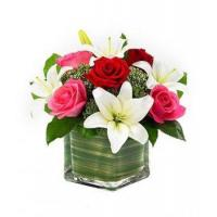 Buy cheap Lily & Roses Romance Cube NO.83 delivery flower to taiwan from wholesalers