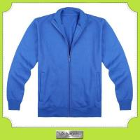 China Custom made 100% cotton blue running sweat shirt with earphone jack holds on sale