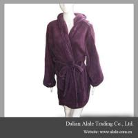 Best winter warm soft purple coral fleece home women bathroom bathrobe wholesale