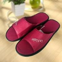 Best Rose red cool Imitation ox-tendon sole leather slipper wholesale