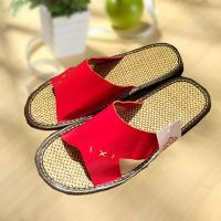 Best Household comfortable couple leather slipper wholesale