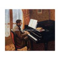 Best Sepical Young Man Playing the Piano, 1876 wholesale