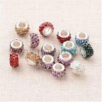 China Handmade Polymer Clay Grade A Rhinestone European Beads, Lar...(CPDL-J037-M) on sale