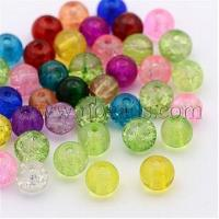 Best Round Crackle Glass Beads, Mixed Color, 8mm, Hole: 1.3~1.6mm(X-CCG-Q001-8mm-M) wholesale