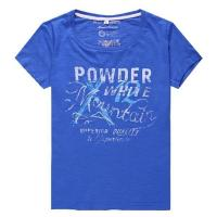 Buy cheap 100% Cotton Slubed Womens Broken Printing T-shirt from wholesalers