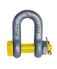 Cheap Grade S Dee Shackle With Safety Pins AS2741 Forged Alloy-Rigging hardare-China manufacturer,factory for sale