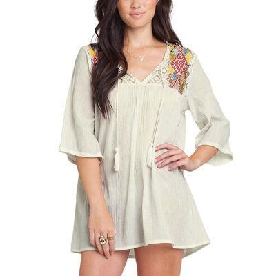 Cheap Junior's Billabong White Stay Forever Coverup for sale