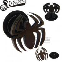 China PVD Black Plated Spider Design Ear Studs on sale