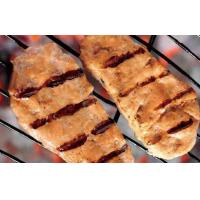 China BBQ grilled salmon burger on sale