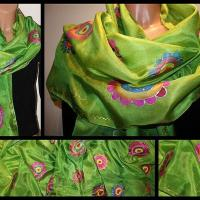 China Fashion and accessories Original hand painted silk scarf Marocco on sale
