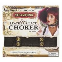 Buy cheap SteamPunk Leather & Lace Choker from wholesalers
