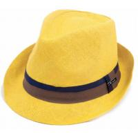 Buy cheap Fedora Style Paper Straw Hat with Printed Logo from wholesalers