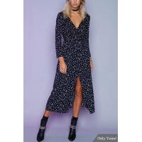 Best Wrap Design Star Pattern Split Maxi Dress wholesale