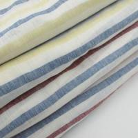 China linen cotton blend fabric Yarn Dyed 100% Linen Fabric Stripe on sale
