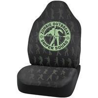 China Seat Covers Walking Zombie Seat Cover Black/Green on sale