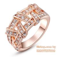China Fashion jewelry ring with rose gold palted on sale