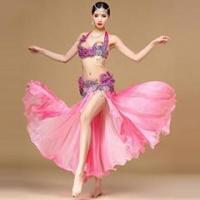Glorious Pink Performance Belly Dance Costume,Professional Belly Dance Costume