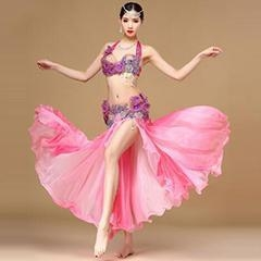 Cheap Glorious Pink Performance Belly Dance Costume,Professional Belly Dance Costume for sale