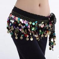Best Hot Sale Black Performance Belly Dance Hip Scarf,Belly Dance Practice Belt wholesale