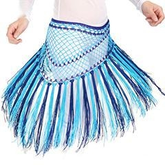 China Professional Tassel Belly Dance Hip Scarf,Belly Dance Mixed Colors Waist Scarf