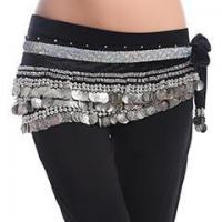 China Professional 338Silver Coin Belt Belly Dance Hip Scarf,Belly Dance Practice Belt on sale
