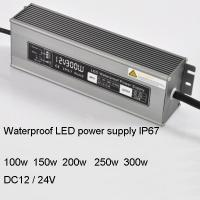 Cheap DC24v 100/150/200/250/300w LED waterproof power supply for sale