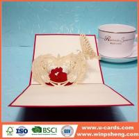China Handmade Card 3d Pop Up Paper Art Cards For Anniversary on sale