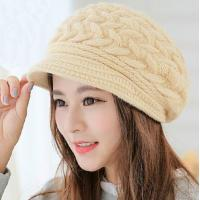 Best winter warm rabbit hair elegant ladies caps and vintage women hats wholesale wholesale