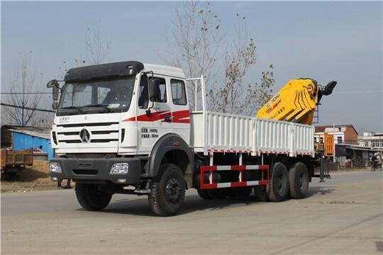 China Product Title: North Benz (Beiben) NG80B 6X4 Truck Mounted 16000 kg Knuckle Boom Fold Arm Crane