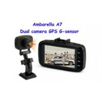 China Ambarella A7 Chipset Dual camera car recorder CL-810DV-A7 on sale