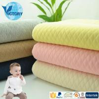 China Baby Clothes Knit Air Layer Double Sided Quilted Fabric on sale