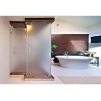 Residential Frameless Frosted Tempered Glass Walls For Bathrooms