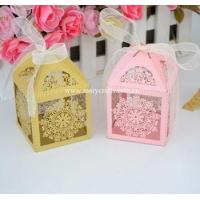 Buy cheap Mery new arrival favor box laser cut wedding gift box match wedding invitations series from wholesalers