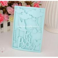 Buy cheap Welcome new baby invitation card and favor box laser cut series products for baby shower invitations from wholesalers