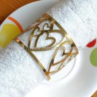 Buy cheap Heart design napkin ring laser cut wedding napkin ring for table centerpieces from wholesalers