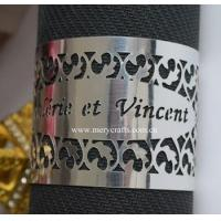 Buy cheap Filigree napkin ring laser cut customized names wedding napkin ring for table centerpieces from wholesalers