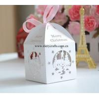 Buy cheap Good design Christmas favor box laser cut white favor box for Christmas decorations from wholesalers