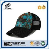 China Flower pattern european style summer women hat mesh cap made in China on sale